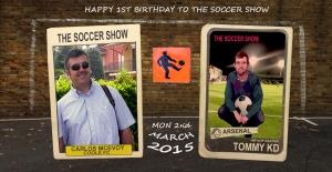 2 3 15 CARLOS MCEVOY & TOMMY KD CARD WALL